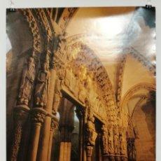 Carteles: POSTER CARTEL FOTO PORTICO DA GLORIA CATEDRAL SANTIAGO COMPOSTELA MEDIDAS 48 CM X 68,5 CM.. Lote 122626263