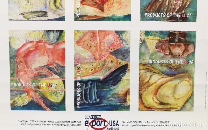Carteles: POSTER CARTEL PUBLICIDAD PESCA SEAFOOD EXPORT USA PECES MOLUSCOS MEDIDAS 42 CM X 59 CM - Foto 5 - 122730759