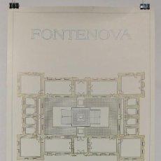 Carteles: POSTER CARTEL PUBLICIDAD BALNEARIO VERIN AGUAS DE FONTENOVA OURENSE 31 CM X 67 CM. Lote 122831779