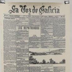 Carteles: POSTER CARTEL PUBLICIDAD LAMINA PERIODICO LA VOZ DE GALICIA 30 CM X 42 CM. Lote 123285095