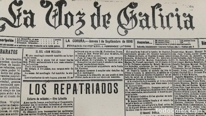 Carteles: POSTER CARTEL PUBLICIDAD LAMINA PERIODICO LA VOZ DE GALICIA 30 CM X 42 CM - Foto 2 - 123285095