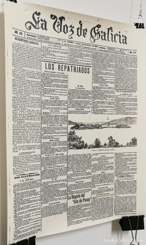 Carteles: POSTER CARTEL PUBLICIDAD LAMINA PERIODICO LA VOZ DE GALICIA 30 CM X 42 CM - Foto 4 - 123285095