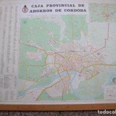 Carteles: CAJA PROVINCIAL AHORROS DE CORDOBA. MAPA CAPITAL. 1978. 127 X 94 CM.. Lote 95666803