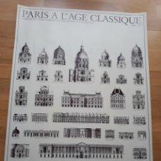 Carteles: CARTEL PÓSTER ARQUITECTURA PARISINA DE ENRIQUE IV A LUIS XV 1600 - 1750. EDICIONES LIDIARTE 1985. Lote 146896198