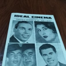 Carteles: CARTEL FOLLETO FLAMENCO LANTEJUELA SEVILLA IDEAL CINEMA 1965 LEER. Lote 124424227
