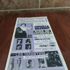 Carteles: CARTEL FLAMENCO IDEAL CINEMA LA LANTEJUELA SEVILLA NIÑA DE ANTEQUERA 1968 . Lote 124433219