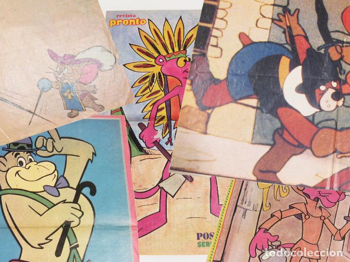 LOTE DE 10 CARTELES DE DIBUJOS ANIMADOS. PICAPIEDRA, PANTERA ROSA, TARZAN, TOM Y JERRY, MOSQUEPERROS (Coleccionismo - Carteles Gran Formato - Carteles Varios)