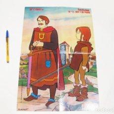 Carteles: CARTEL O POSTER Nº 3 DE LA SERIE DE DIBUJOS ANIMADOS DE RUY PEQUEÑO CID - RUY Y SU PADRE. Lote 124516499