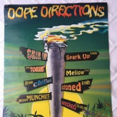 Affissi: CARTEL DOPE DIRECTIONS CANNABIS POSTERS GRAN FORMATO MARIHUANA PORROS MEDIDAS 86X61 CM.. Lote 125137667