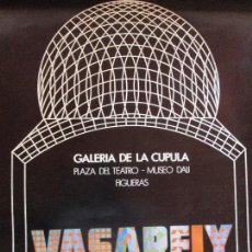 Carteles: CARTEL VASARELY-MUSEO DALI FIGUERES 1974. Lote 125227051