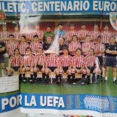 Carteles: CARTEL ATHLETIC DE BILBAO. 1996-97. MEGA POSTER MARCA. A POR LA UEFA.. Lote 126898158