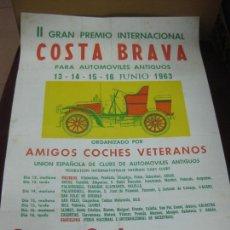 Carteles: CARTEL II GRAN PREMIO INTERNACIONAL COSTA BRAVA AUTOMOVILES ANTIGUOS. JUNIO 1963. COCA-COLA.. Lote 127122771