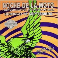 Carteles: POSTER AMNESIA IBIZA 1996 | NOCHE DE LA MOTO | 49 X 69 CM. Lote 127165983