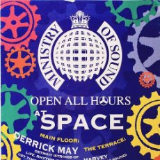 Carteles: POSTER SPACE IBIZA 2000 | MINISTRY OF SOUND OPEN ALL HOURS | 42 X 59 CM. Lote 127167231