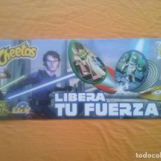 Carteles: STAR WARS CARTEL CARTON ANUNCIO BLIX THE CLONE WARS CHEETOS MATUTANO. Lote 127564043