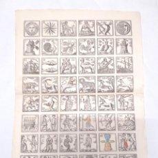 Carteles: AUCA VARIOS TEMAS OFICIOS, ANIMALES, PAPEL DE HILO. MED. 33 X 46 CM. Lote 128772903