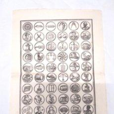 Carteles: AUCA VARIOS UTENSILIOS HERRAMIENTAS, PAPEL DE HILO. MED. 33 X 46 CM. Lote 128773347