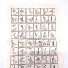 Carteles: AUCA SERIE OFICIOS COMERCIANTES VENDEDORES, PAPEL DE HILO. MED. 33 X 46 CM. Lote 128775563
