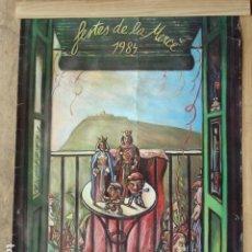 Carteles: CARTEL DE LAS FESTES DE LA MERÇÉ 1984. FOTOCROM-ZERKOWITZ. IMP GRUP 3 S.A. FORMATO 75X56,5 CM.. Lote 128862231