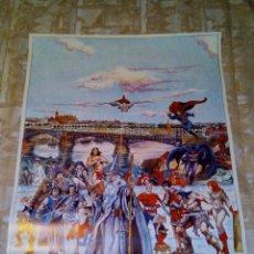 Carteles: VENDO CARTEL (POSTER) GRAN CALIDAD, DE SUPER HEROES (COMIC´S), MUY RARO Y DIFICIL DE ENCONTRAR.. Lote 129900591