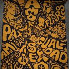 Affissi: POSTER POP-ART. AÑOS 60. HIPPY GENERATION TUSET STREET. AUTOR GUIVERNAU. Lote 240931620