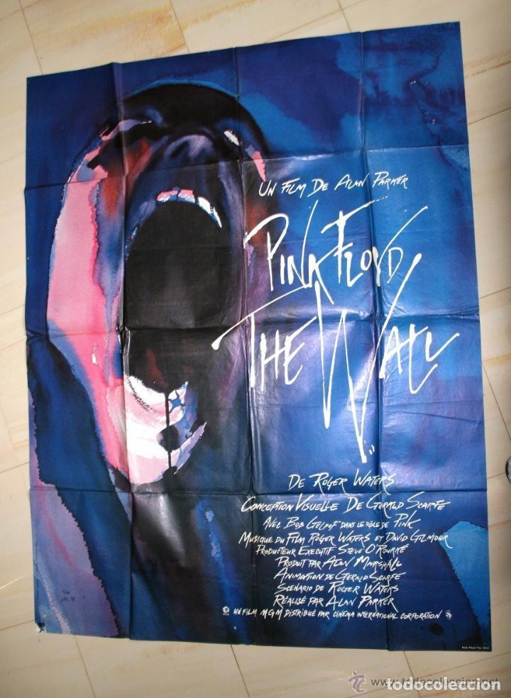 PINK FLOYD. THE WALL. ALAN PARKER. CARTEL CINE ORIGINAL 153 X 118 CM. GRAN TAMAÑO. (Coleccionismo - Carteles Gran Formato - Carteles Varios)