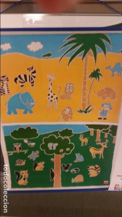 MURAL INFANTIL A AMBAS CARAS. ANIMALES DEL MUNDO. (Coleccionismo - Carteles Gran Formato - Carteles Varios)