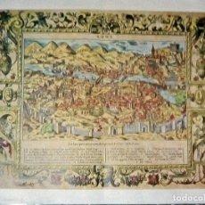 Carteles: POSTER ANTIGUO ILUSTRACION DE CIUDAD DE - ROMA - AÑOS 70 . TAMAÑO 90X71 CM. Lote 131530946