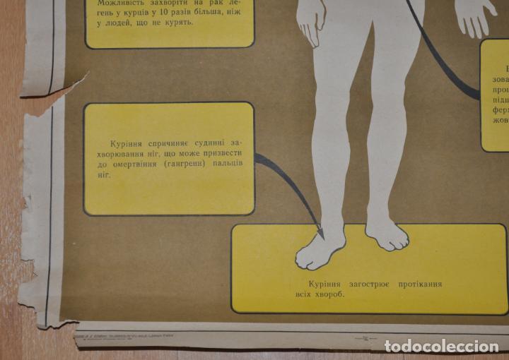 Carteles: Cartel sovietico sobre peligro de fumar .URSS - Foto 5 - 131751662