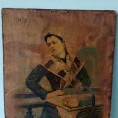Carteles: ANTIQUÍSIMO CARTEL FRANCÉS, MUJER VENDIENDO PESCADO, AÑO 1902. Lote 132820214