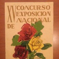 Carteles: CARTEL ORIGINAL AUTOR P / A XV CONCURSO EXPOSICION NACIONAL DE ROSAS CENTRO LECTURA REUS 1962 BE. Lote 133405918