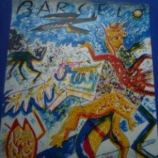 Carteles: MIQUEL BARCELÓ. CARTEL GALERIA TRECE. BARCELONA. 1982. DEDICADO Y FIRMADO MIQUEL. Lote 133662974