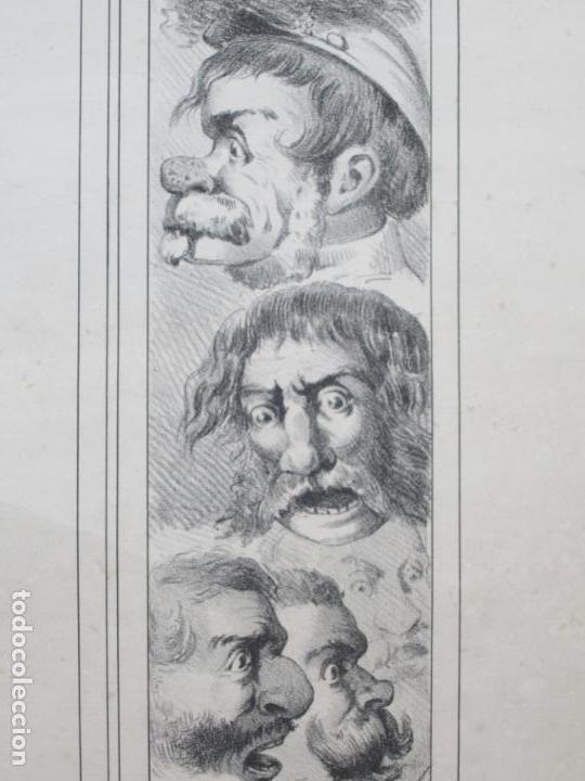Carteles: Cartel satírico La Internacional, siglo XIX, tipos auténticos de los sectarios. 47,5x67cm - Foto 4 - 133810322