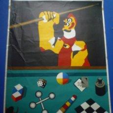 Carteles: EQUIPO CRÓNICA. GALLO EN BILLAR. GALERIA MAEGHT. 1978. Lote 134027522
