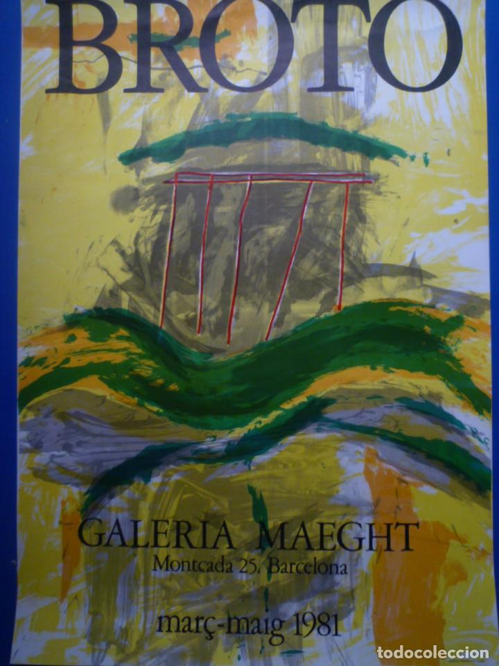 BROTO. GALERIA MAEGHT. 1981 (Coleccionismo - Carteles Gran Formato - Carteles Varios)