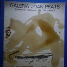 Carteles: ANTONI TÀPIES. PERE GIMFERRER. APARICIONS. GALERIA JOAN PRATS. 1982. Lote 134112042