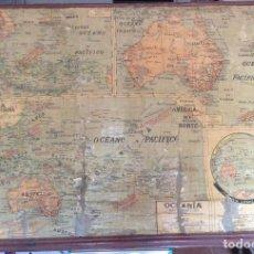 Carteles: CARTÉL ANTIGUO -OCEANÍA POLÍTICO- 1,34 X 90 CM. Lote 134291578