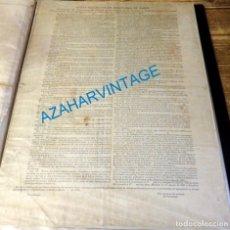 Carteles: 1837, ESPECTACULAR CARTEL LEY DE EXCLAUSTRACION DE CONVENTOS, UNICO, 100% ORIGINAL, 31X43 CMS. Lote 134785746