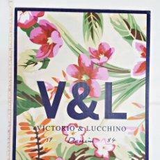 Carteles: DISPLAY PUBLICITARIO DE CARTON DURO VICTORIO Y LUCCHINO. Lote 135437770