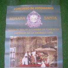 Carteles: CARTEL CONCURSO DE FOTOGRAFÍA SEMANA SANTA, COFRADÍA DE LA SAGRADA CENA, CÁCERES 1998. 29,5X43 CM.. Lote 135612774