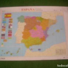 Carteles: MAPA DE ESPAÑA EL ESTADO AUTONÓMICO, PÓSTER MAP EL PAÍS 1995. 100X70 CM. Lote 136220670