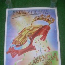 Carteles: CARTEL FERIA Y FIESTAS PLASENCIA 1989, CÁCERES. 45X58 CM. Lote 136226038
