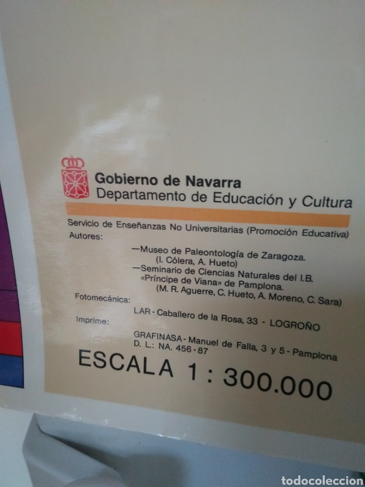 Carteles: FOSILES DE NAVARRA. CARTEL MAPA - Foto 3 - 174592069