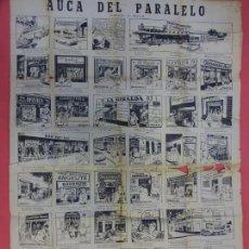 Carteles: AUCA DEL PARALELO. ORIGINAL AÑOS 1950S. NECESITA RESTAURACIÓN. INTERESANTE. Lote 137333578