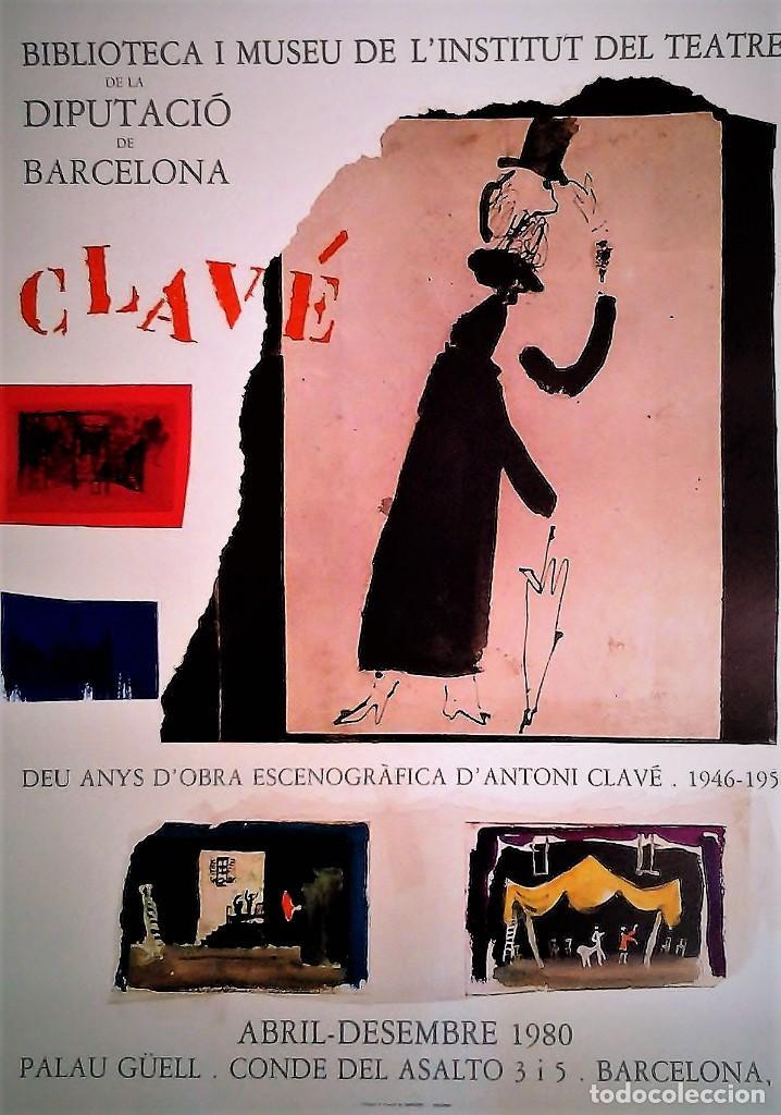 ANTONI CLAVÉ. CARTEL 1980 (Coleccionismo - Carteles Gran Formato - Carteles Varios)