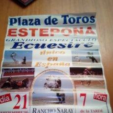 Carteles: CARTEL CABALLO ECUESTRE. PLAZA DE TOROS ESTEPONA. 21 SEPTIEMBRE 1996. Lote 138695026