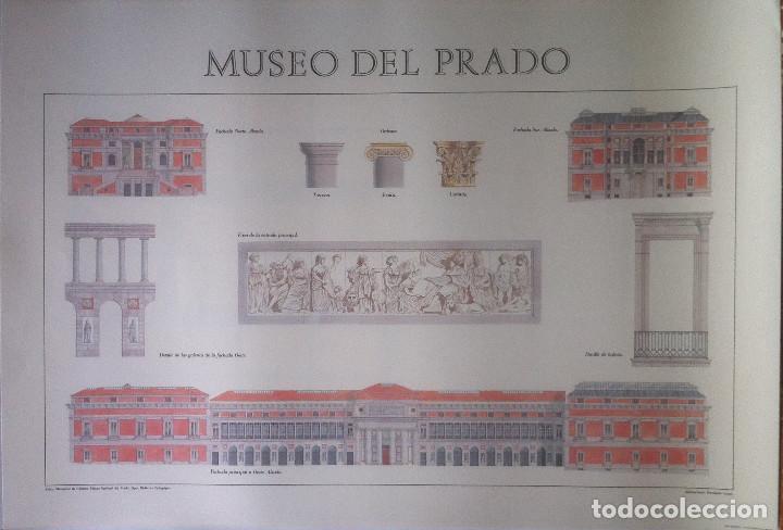 MUSEO DEL PRADO. DETALLES ARQUITECTÓNICOS (POSTER) - MINISTERIO DE CULTURA. 45 X 65 (Coleccionismo - Carteles Gran Formato - Carteles Varios)