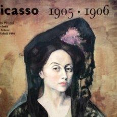 Carteles: PICASSO 1905-1906. CARTEL DE GRAN FORMATO DEL MUSEO PICASSO. AÑO 1992. Lote 139699850