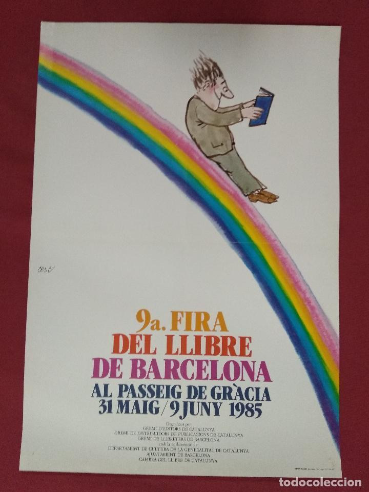 CARTELL. 9ª FIRA DEL LLIBRE DE BARCELONA. 31 MAIG / 9 JUNY 1985. CESC (Coleccionismo - Carteles Gran Formato - Carteles Varios)