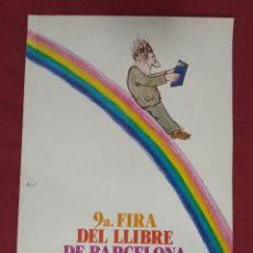 Affissi: CARTELL. 9ª FIRA DEL LLIBRE DE BARCELONA. 31 MAIG / 9 JUNY 1985. CESC. Lote 140047214